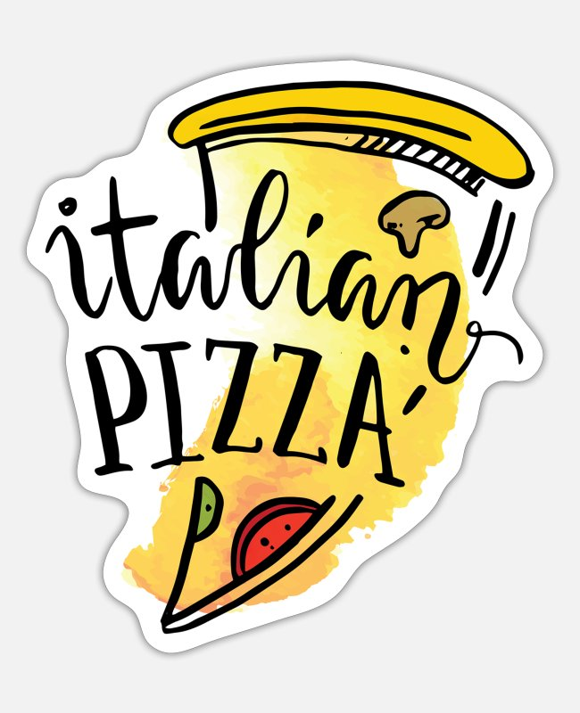 Proud Stickers - Italian Pizza - Sticker white matte