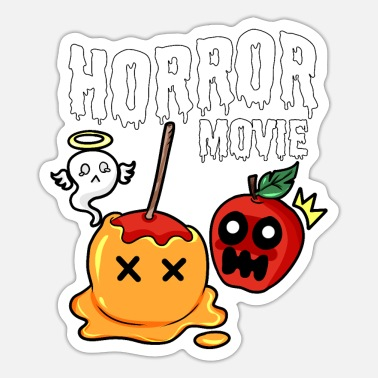 Horrormovie horrormovie paradise apple Chocolate - Sticker