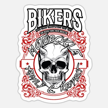 Death Skull Devil Bikers Bike Chopper Motorcycle Gift - Sticker