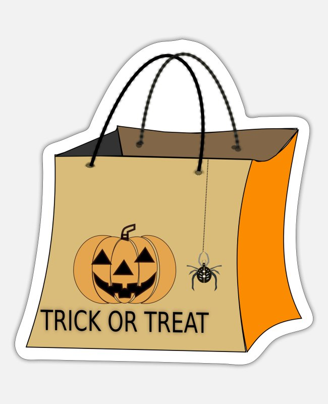 Mummy Stickers - halloween bag trick or treat - Sticker white matte