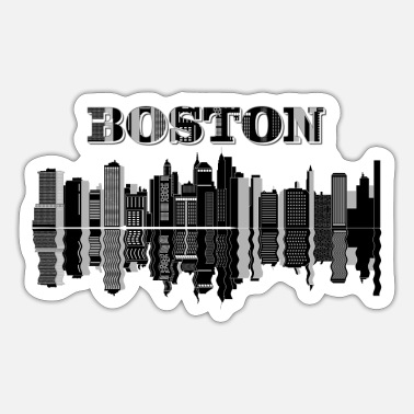 Cityscape cityscape boston city - Sticker
