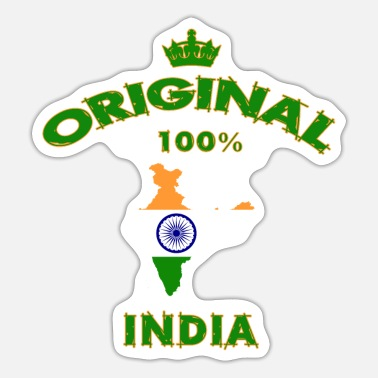 Bollywood Indien Original 100% / National Flag / Gift - Sticker