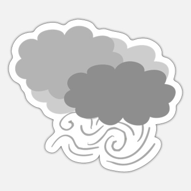 Wind wind clouds - Sticker