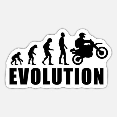 Present EVOLUTION MOTOCROSS present gift - Sticker