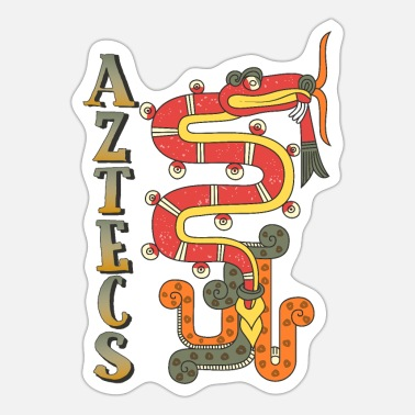 Central Mexico Aztec Dragon Graphic - Sticker