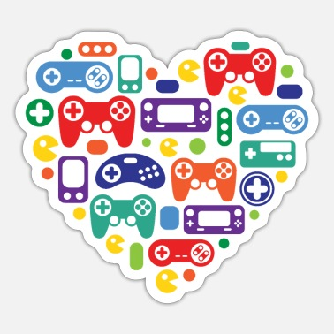 Video Games Video Game Love - Sticker