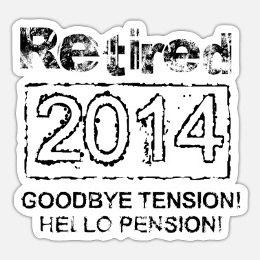 2014 Retired 2014 - Sticker
