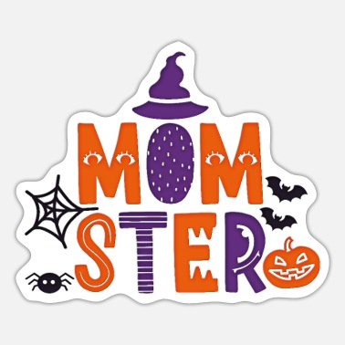 Sters Funny Halloween Shirt for Mom Mom-ster Tee Gift - Sticker