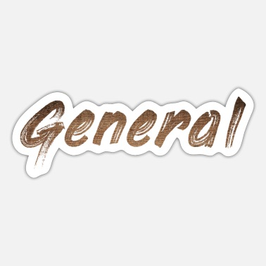 Rank General General Brown Paint Word - Sticker
