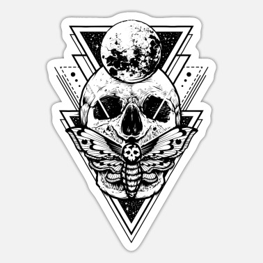 Black And White Collection Skull Sacred - Sticker