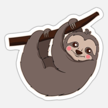 Present Sloth Gift & Present Hanging - Sticker