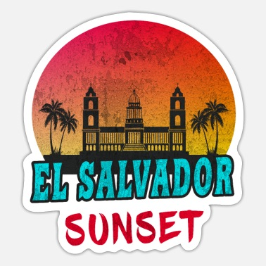 Central America El Salvador Sunset Vintage / Gift Central America - Sticker