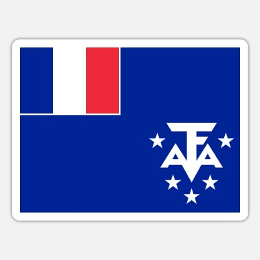 Territory French Southern and Antarctic Territories Flag - Sticker
