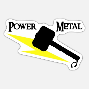 Power Metal Power Metal with Hammer and Lightning - Sticker