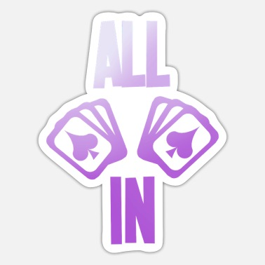 Pik Poker saying ALL IN with cards pik - Sticker