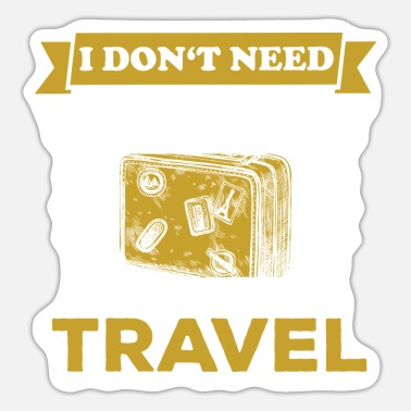 Travel Travel Traveler - Sticker