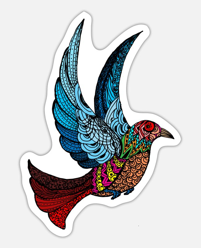 Bird Of Paradise Stickers - paradise bird - Sticker white matte