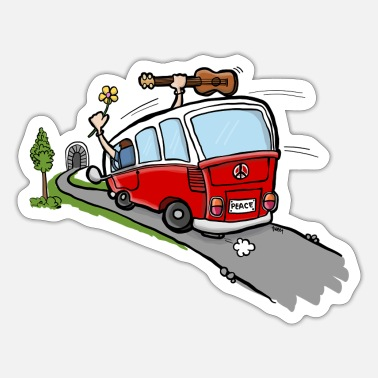Occassionally Oh Hippie Day Van - Sticker