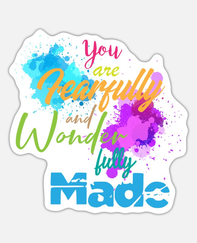 Artist Stickers - Fully made fearfully wonder made fully made - Sticker white matte