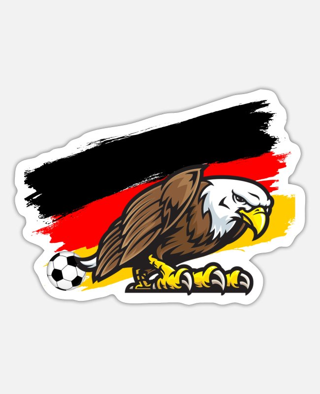 Proud Stickers - (Soccer ball Germany flag) - Sticker white matte