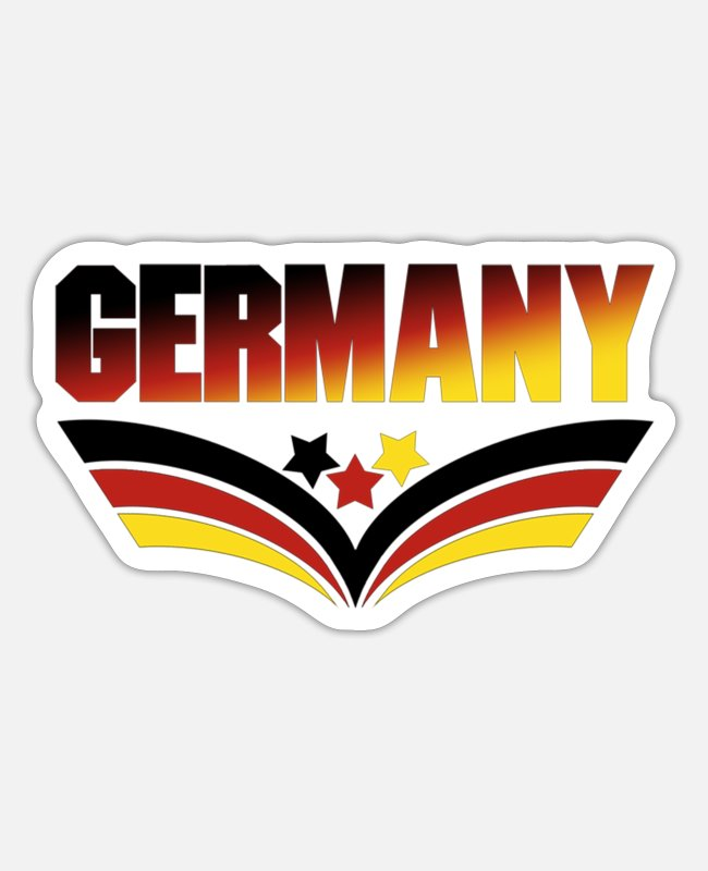 Proud Stickers - Germany (soccer ball, crown) - Sticker white matte