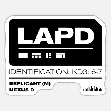 Runner Blade Runner: 2049 LAPD - Sticker