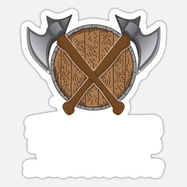Barbarian Roleplay Barbarian Viking Axe Viking Time Gift - Sticker