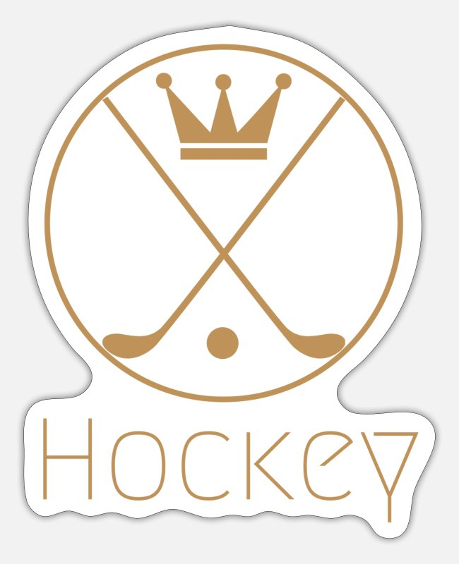 Indoor Hockey Stickers - hockey - Sticker white matte