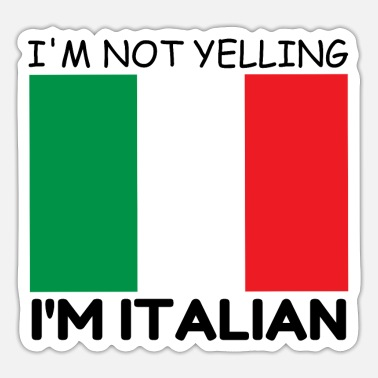 Yell YELLING ITALIAN - Sticker