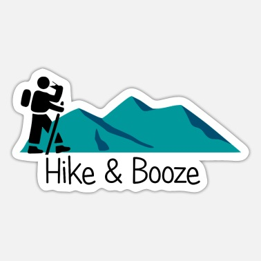 Booze hike and booze - Sticker