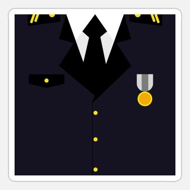 Rank General Dark blue Military Uniform Medal - idea gift - Sticker