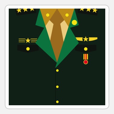 Rank General Dark green Military Uniform Medal - idea gift - Sticker