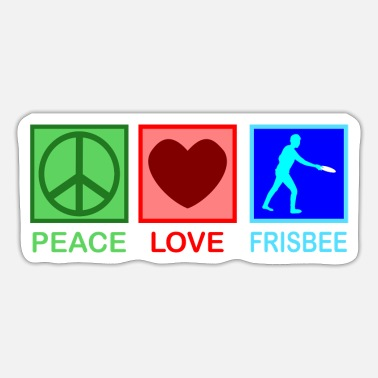 Sportsmanship Peace Love Ultimate Frisbee Gift - Sticker
