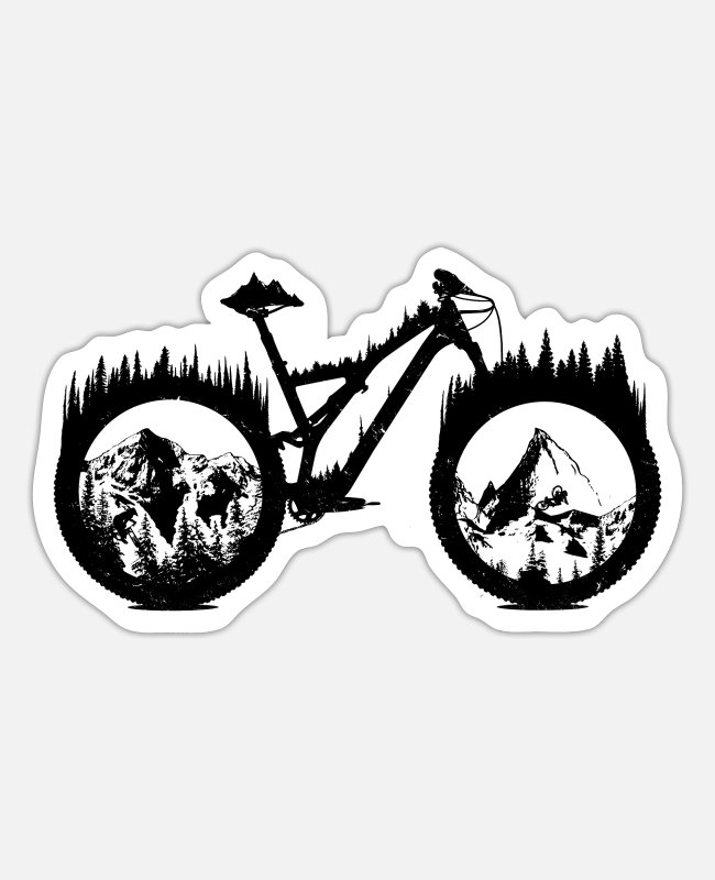 Mountains Stickers - Enduro - Sticker white matte