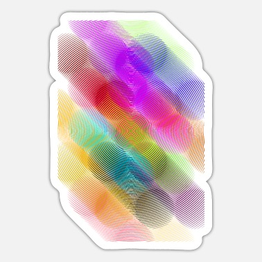 Painted Wave Waves colors - Sticker
