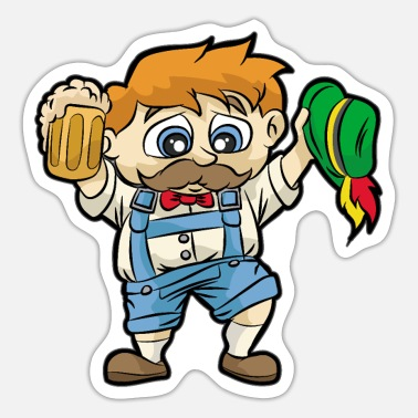 Leather Pants BAVARIAN GUY Leather Pants Beer Tracht Oktoberfest - Sticker