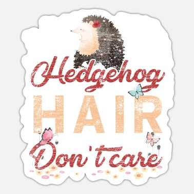 Hairstyle Hedgehog Hairstyle - Sticker