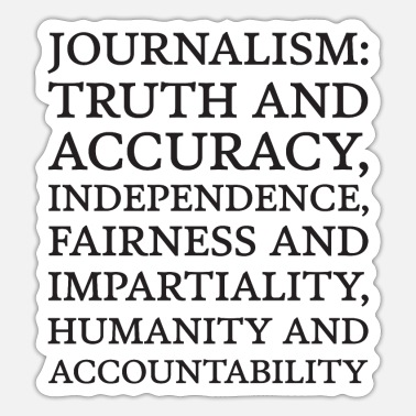 Accuracy Text: Journalism principles (black) - Sticker