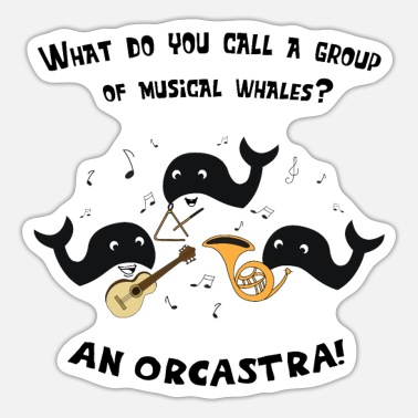 Marchingband Funny Orca Orchestra Marchingband - Sticker