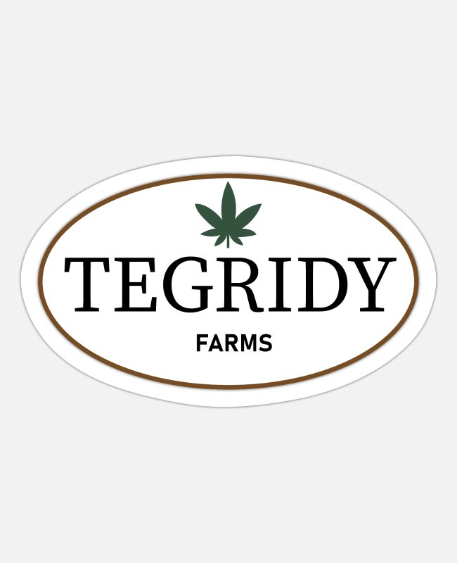 Mary Jane Weed Stickers - 22nd Century Movies & TV Tegridy Farms Farming - Sticker white matte