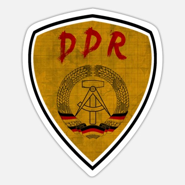 Stasi DDR GDR coat of arms design vintage / gift - Sticker