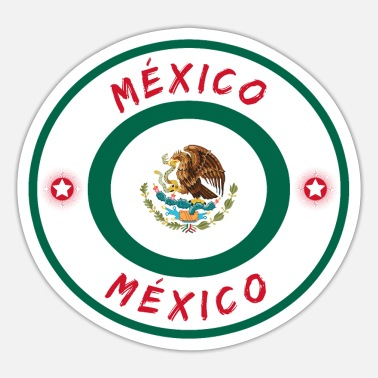 Monterrey Mexico Circle with National Colors / Gift - Sticker