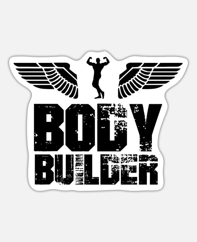 Body Builder Stickers - Bodybuilder - Sticker white matte