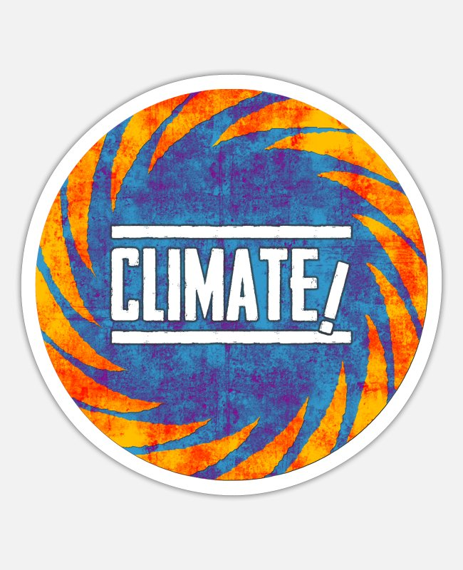 Earth Stickers - climate change - Sticker white matte