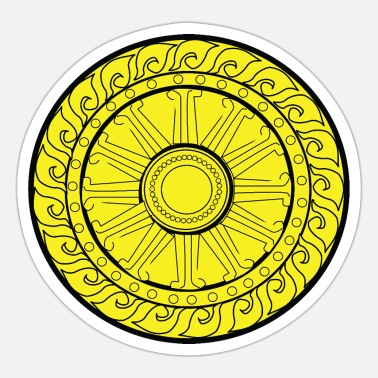 Circular YELLOW CIRCULAR GEOMETRIC - Sticker
