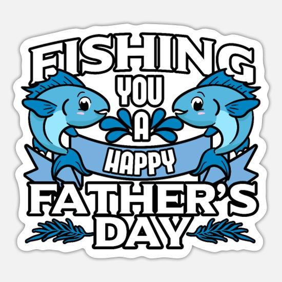 Portrait Sticker Details about  /Machine washable Love Fishing Being Dad Gifts Sticker