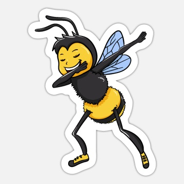 Bee Bee Bees Dabbing Dance Funny Honey Gift - Sticker