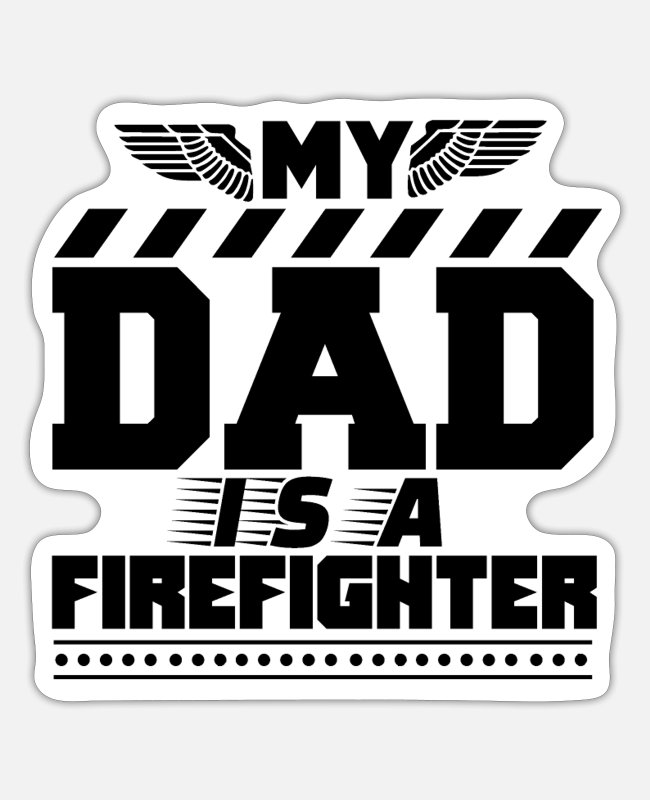 Fire Fighter Stickers - FF Firefight Fire Fighter Firefighter Firefighting - Sticker white matte