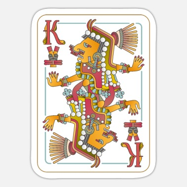 Polytheistic Playing cards with Aztec gods - Sticker