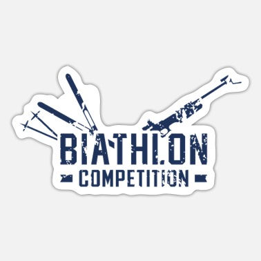 Biathlon Dad Sports Biathlon Runner Biathlons Athlete Biathlon - Sticker